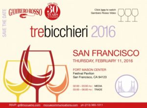 Tre Bicchieri World Tour 2016 1