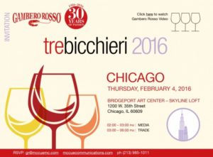 Tre Bicchieri World Tour 2016
